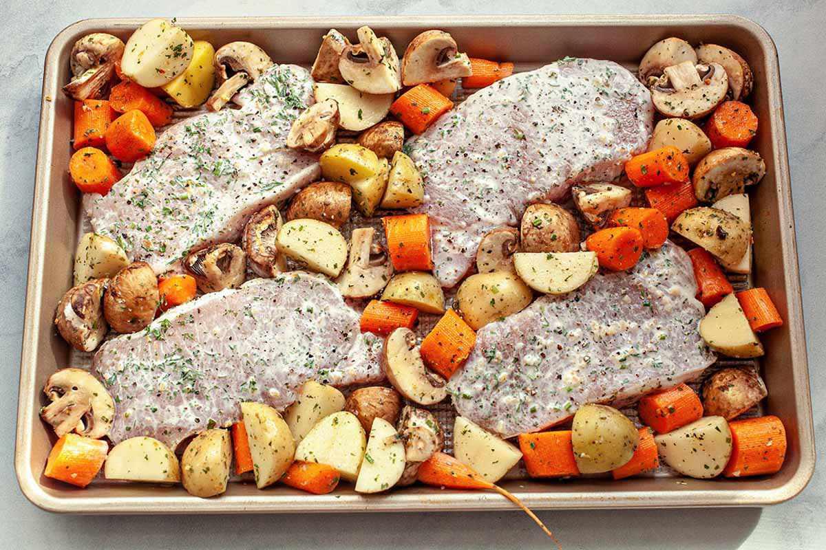 Baked Ranch Pork Chop Recipe ready to bake