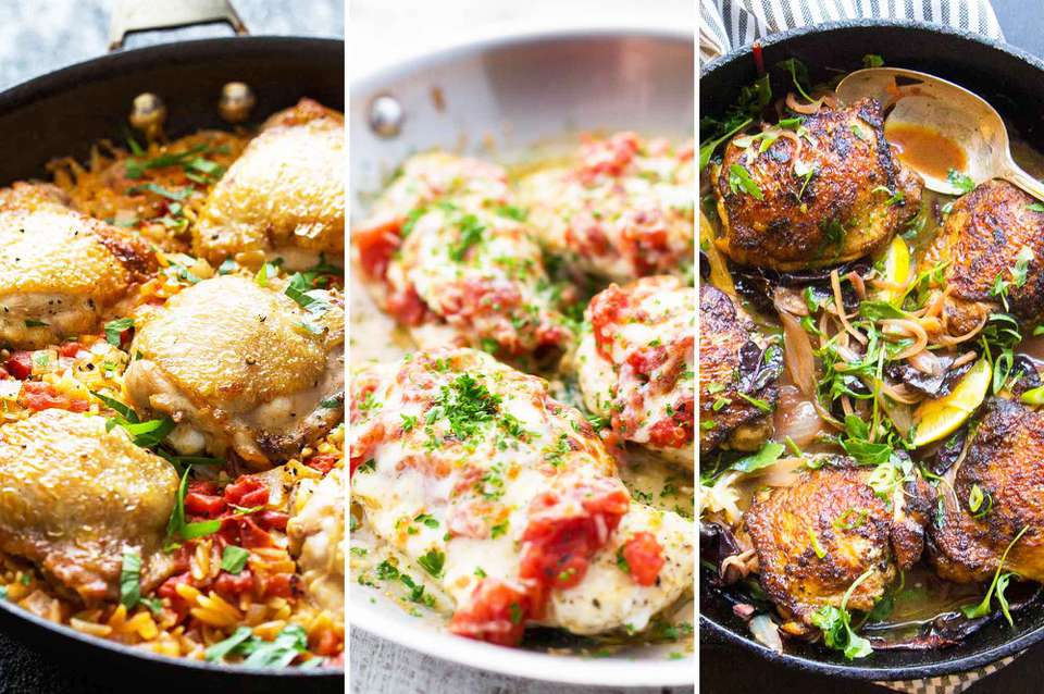 12 Skillet Chicken Dinners