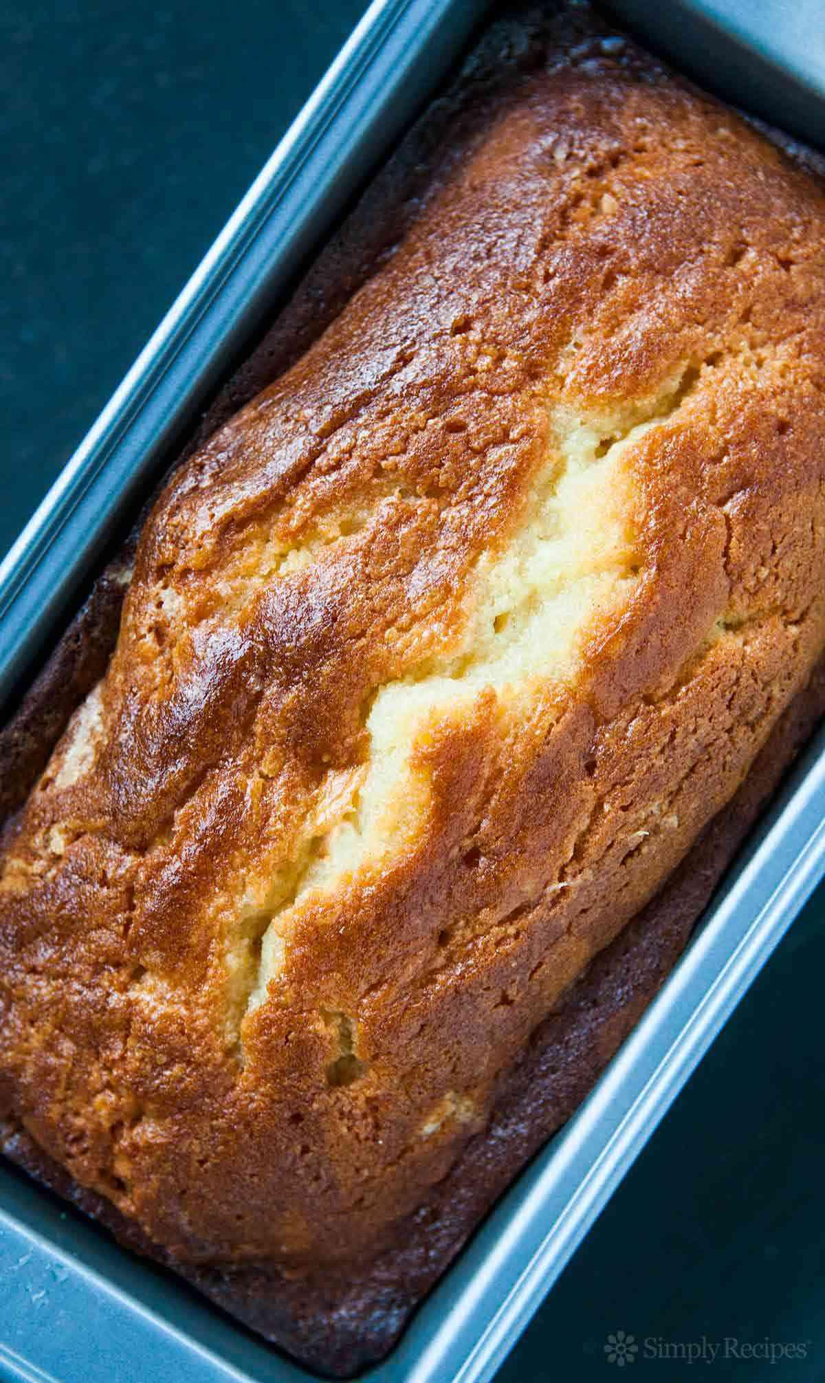 Lemon Bread in loaf pan