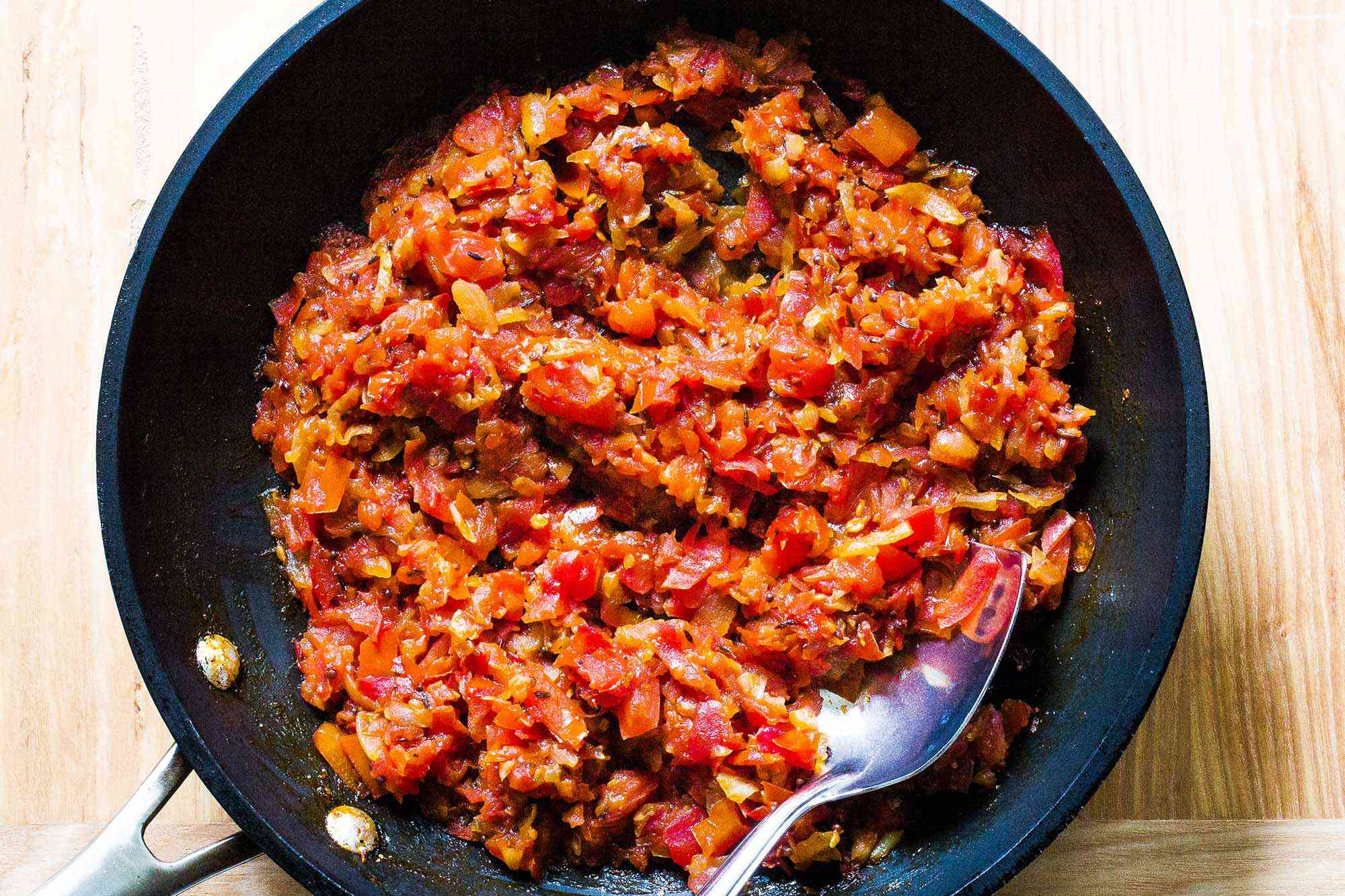 Savory Tomato Jam cook down the jam