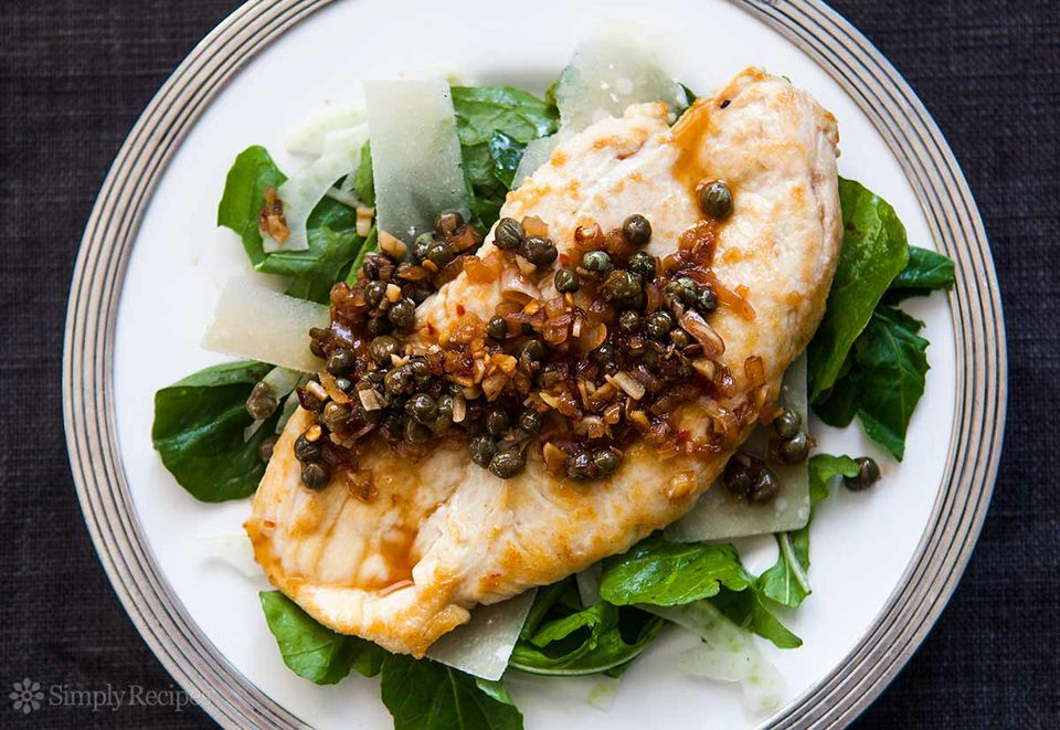 Chicken Cutlets with Caper Sauce