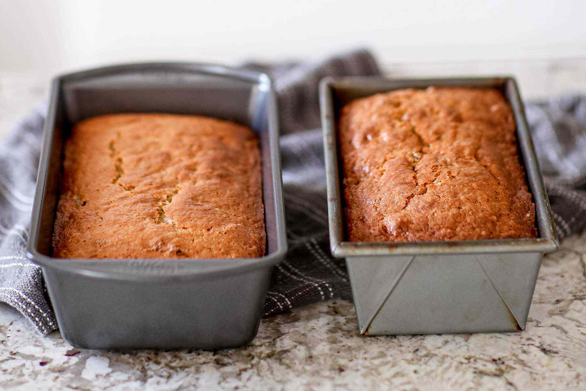Best Loaf Pans - two pans of bread