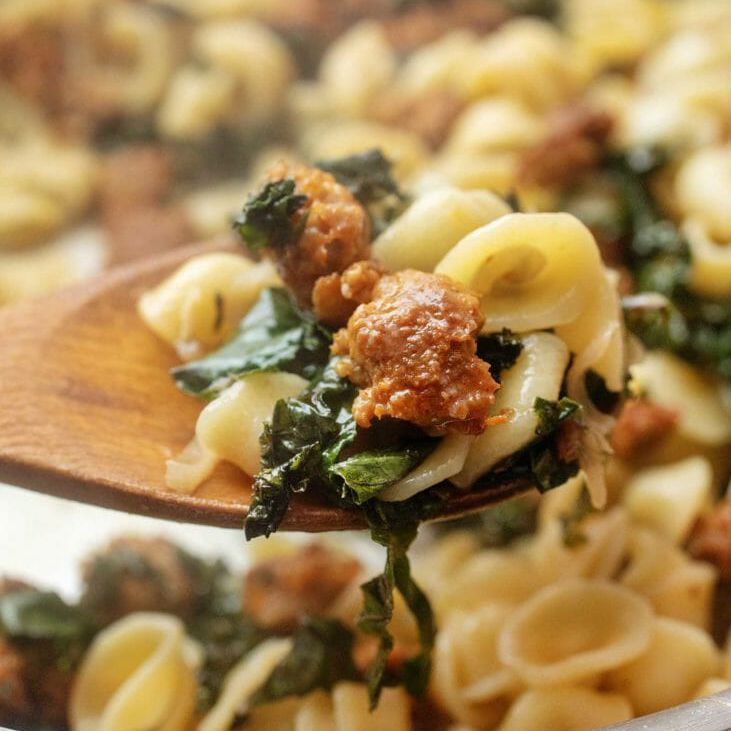 Sausage and Kale with Pasta Dinner