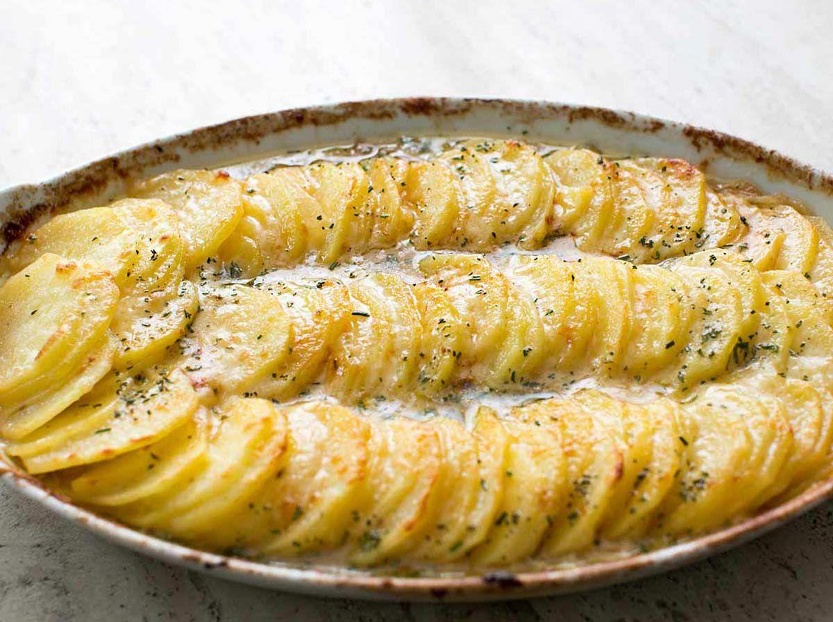 Scalloped Potatoes Gruyere Caramelized Onions