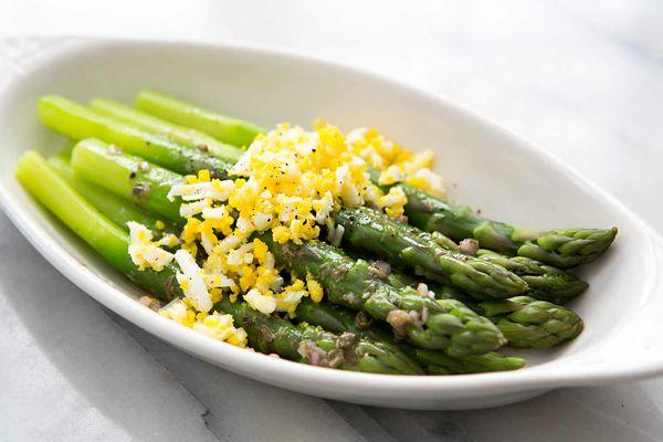 Asparagus Eggs Caper Vinaigrette