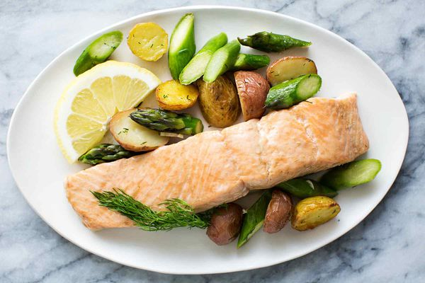 Sheet Pan Salmon with Asparagus and New Potatoes