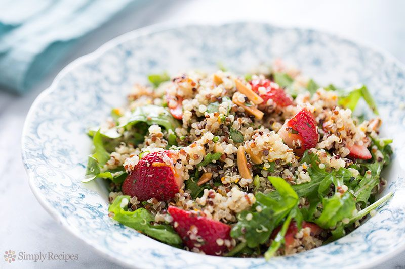Strawberry Quinoa Arugula Salad