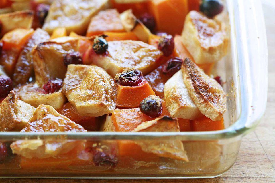 Butternut Squash Apple Cranberry Bake