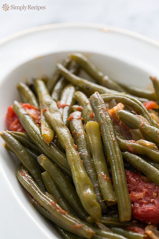 Green Beans with Bacon and Tomatoes