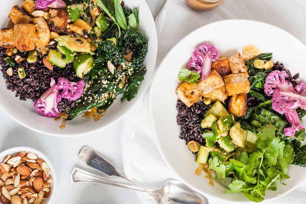 Tofu and Rice Veggie Bowl