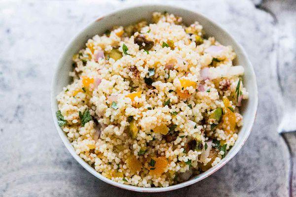 Couscous with Pistachios and Apricots