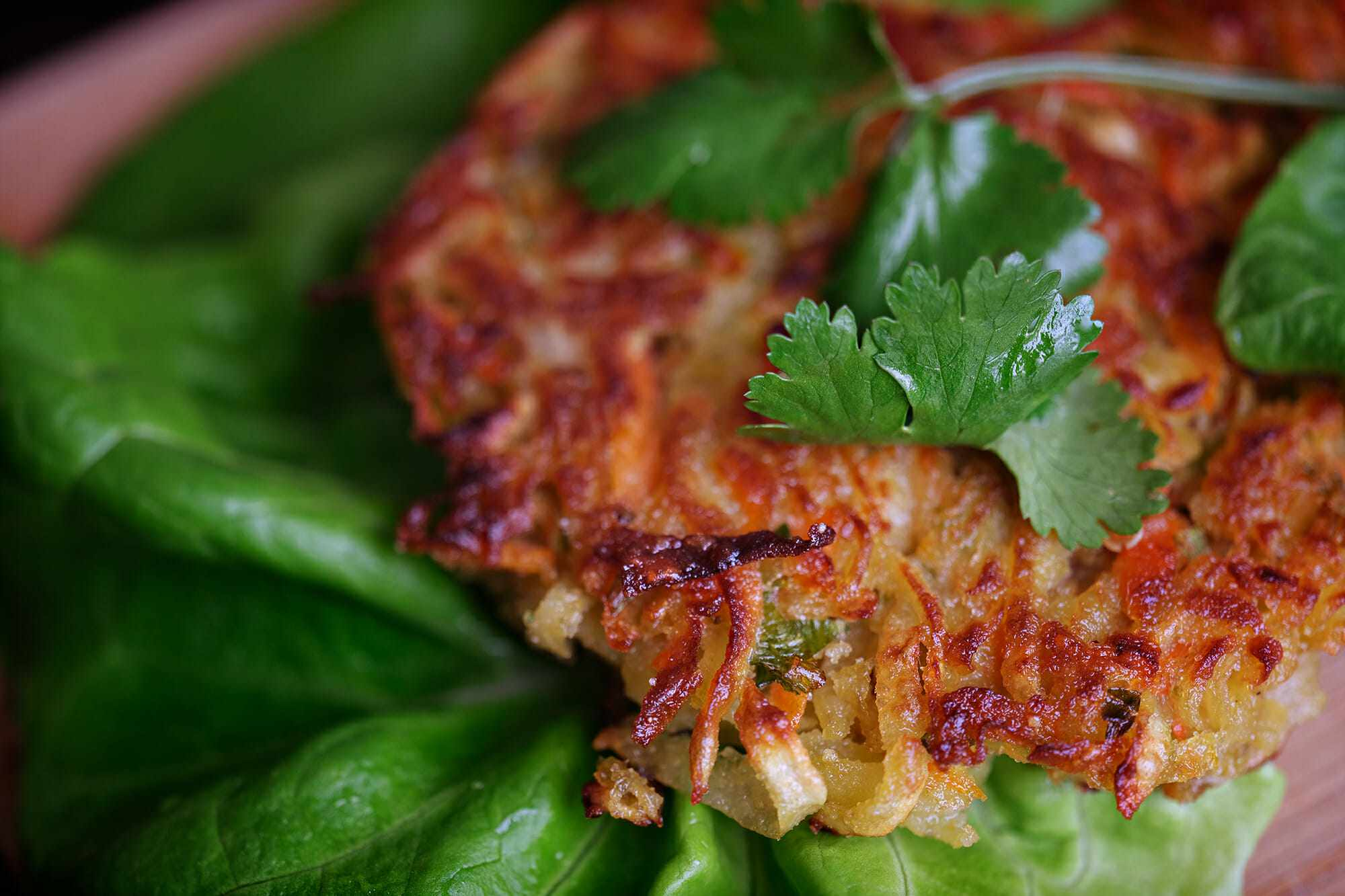 Asian Lettuce Wraps with Sweet Potatoes
