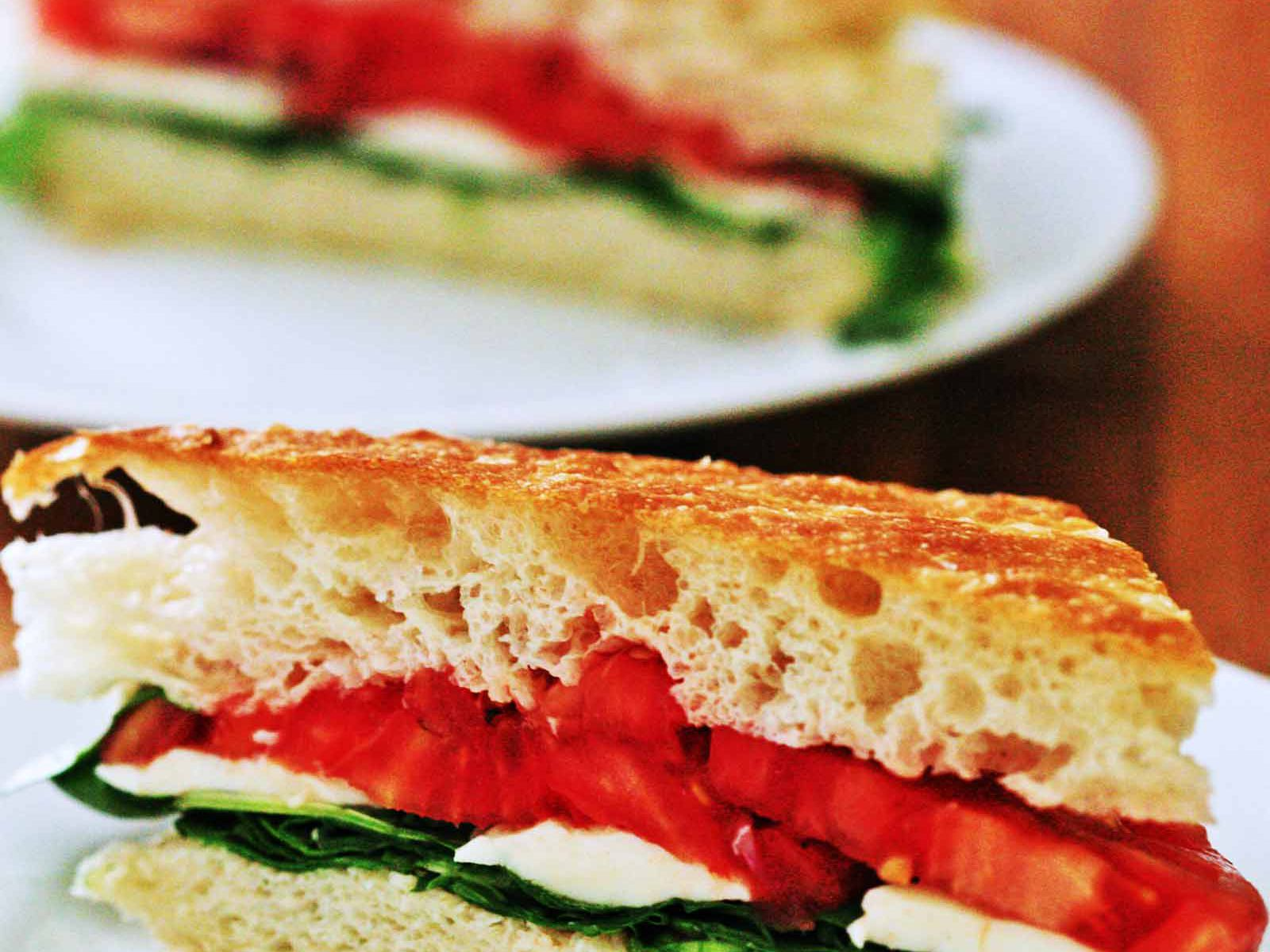 Arugula Mozzarella Tomato On Focaccia Recipe