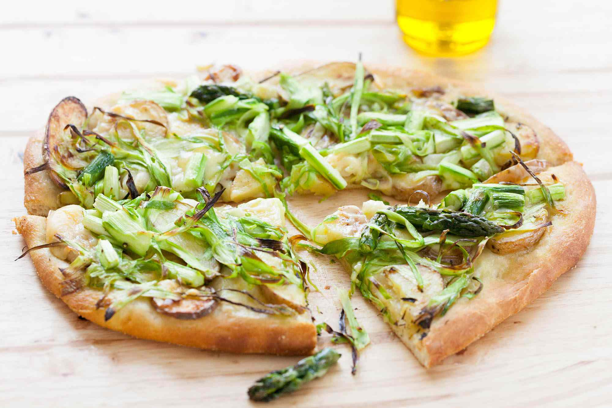 Shaved Asparagus and Potato Pizza