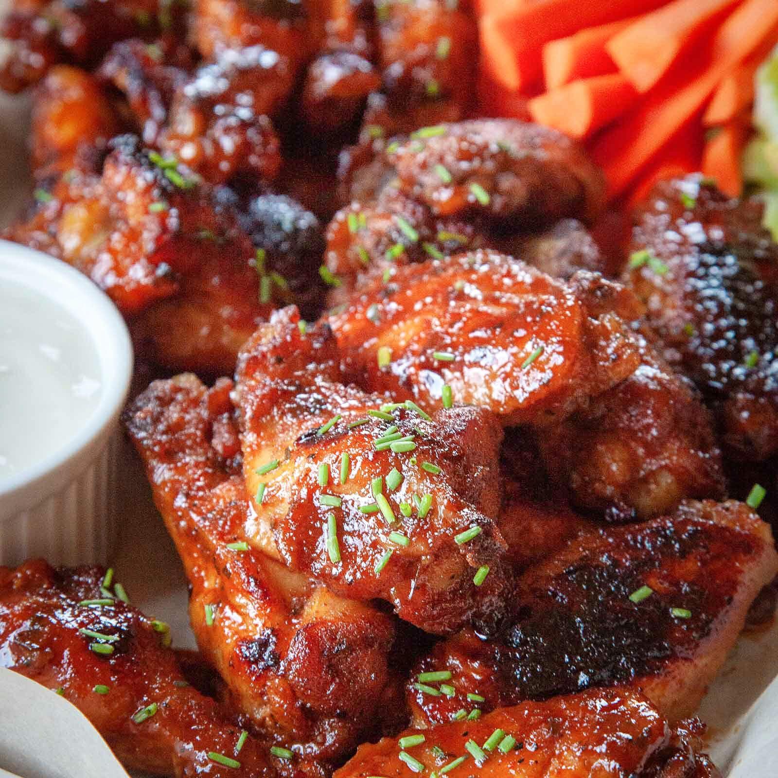 Slow Cooker Honey Buffalo Chicken Wings Recipe