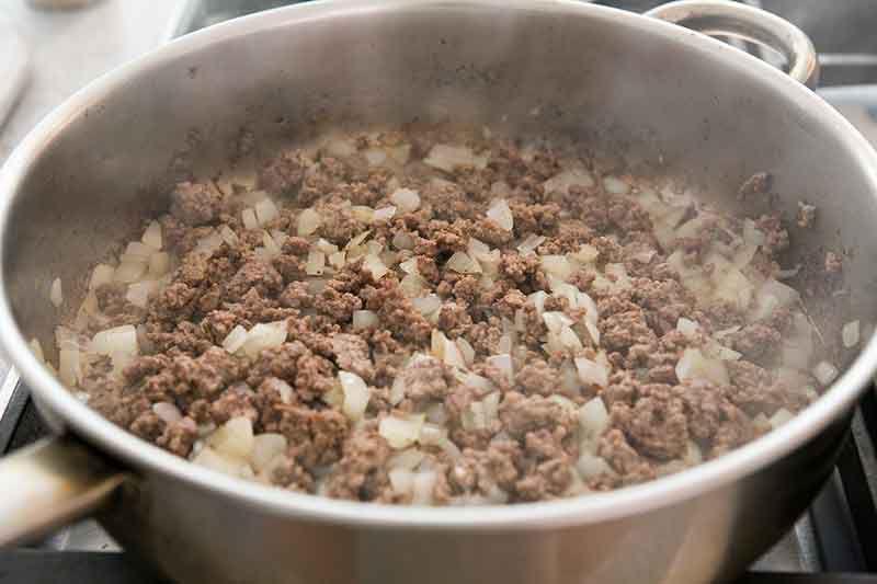 hamburger recipes with browned hamburger and onions