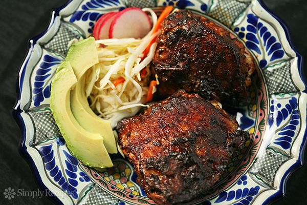 Red Chile Marinated Grilled Chicken
