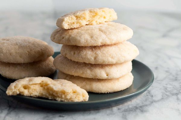 stack of Soft and Chewy Lemon Cookies