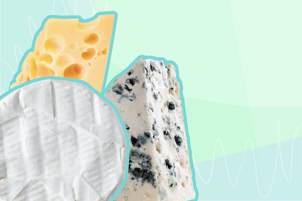 Photo composite of various cheeses