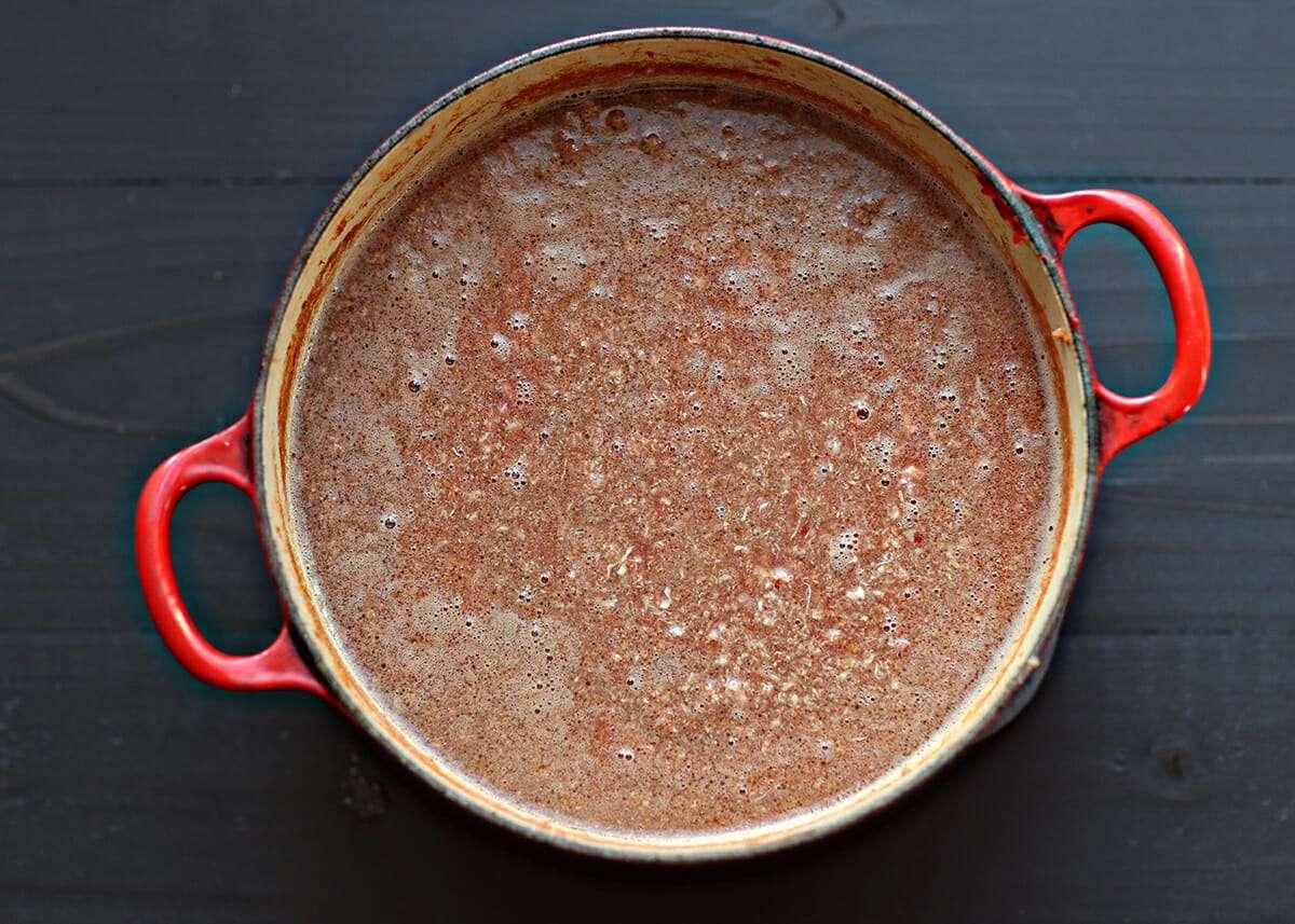 Skyline Cincinnati Chili Recipe simmer the beef and tomatoes