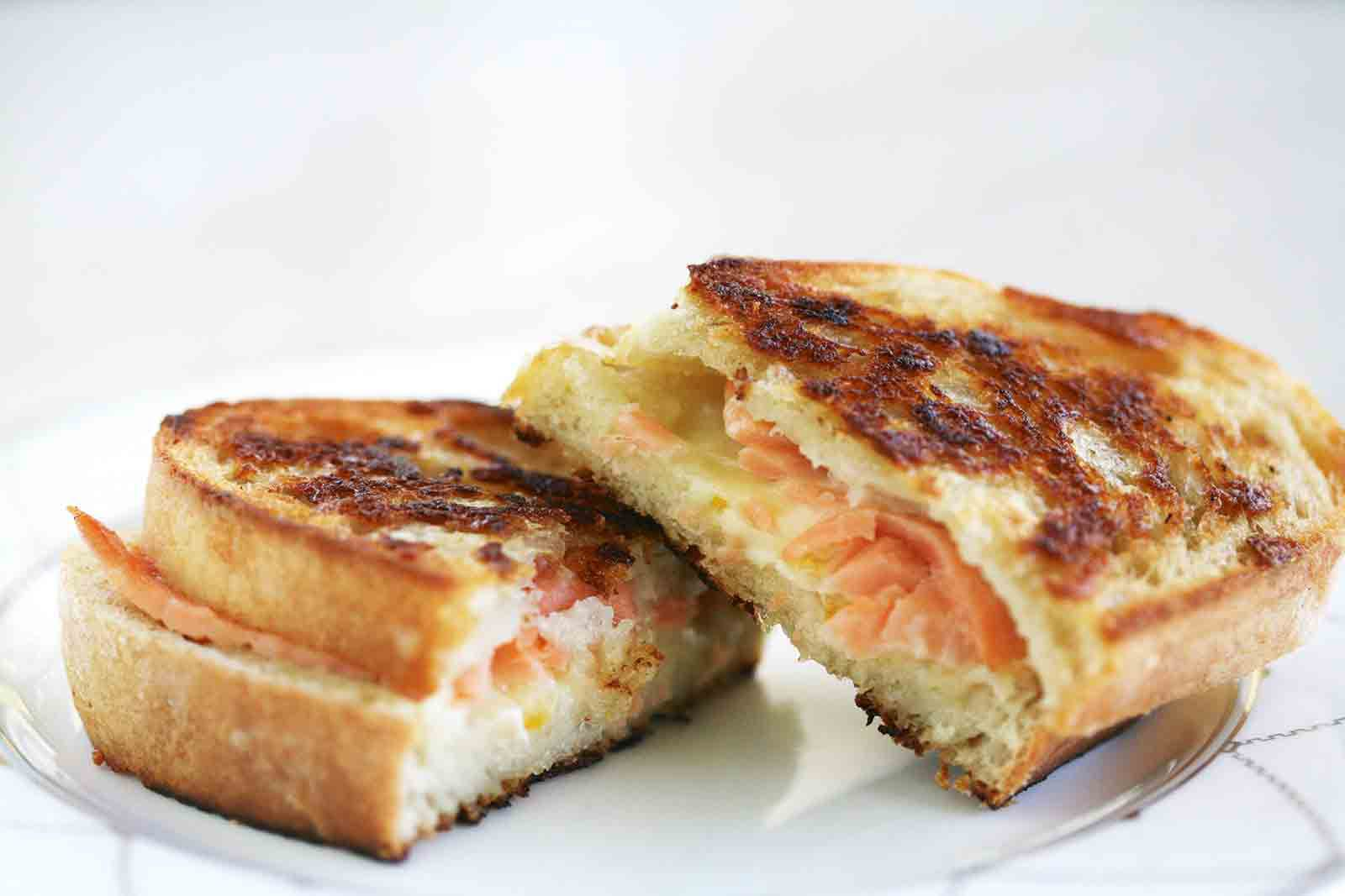 Smoked Salmon And Gruyere Grilled Cheese Sandwich Recipe