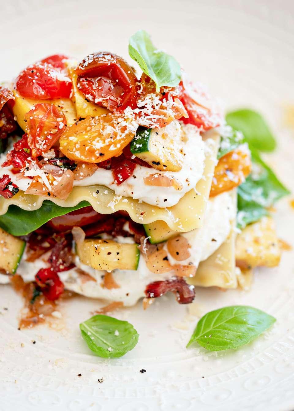 Summer vegetable lasagna recipe