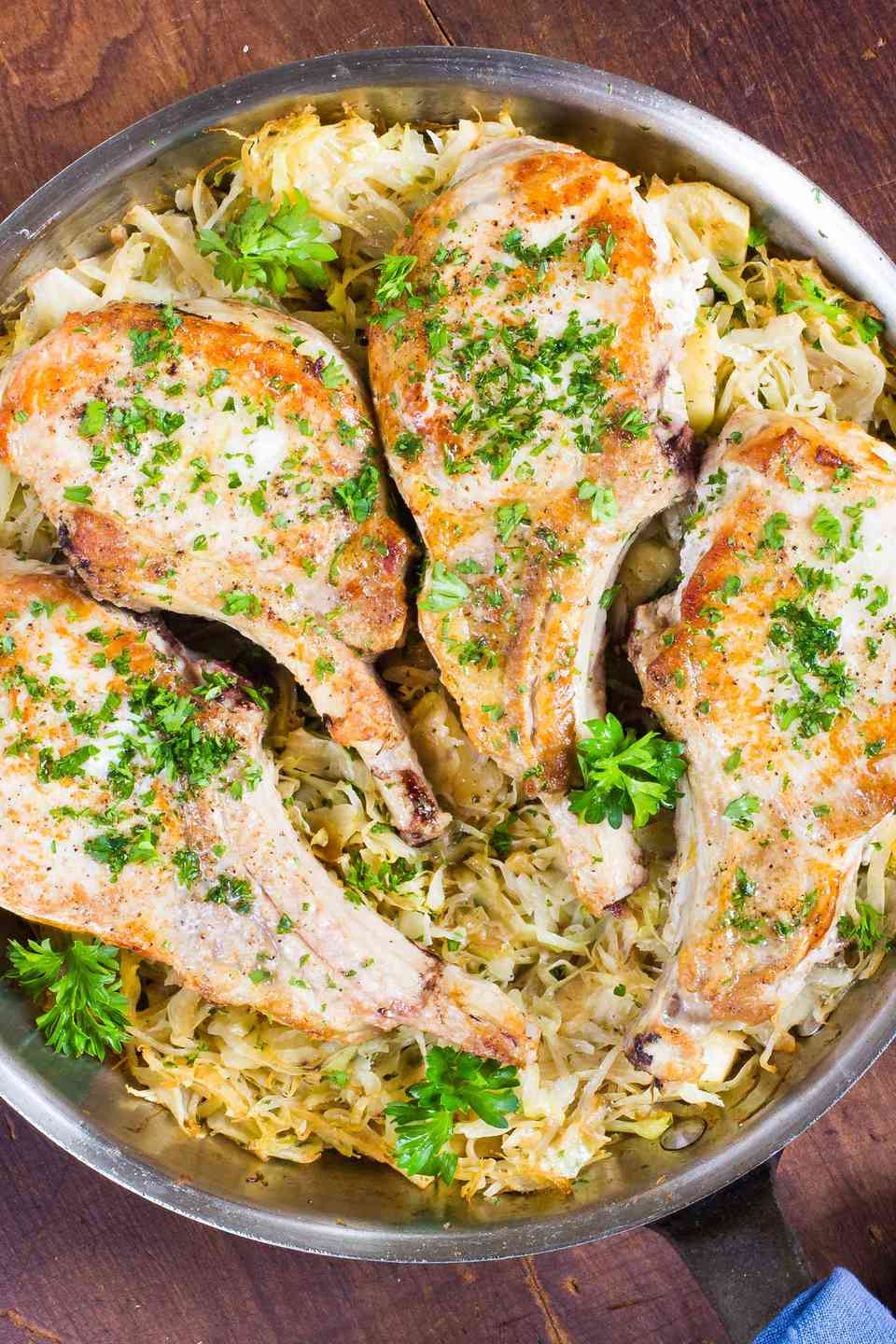 Pork Chops with Cabbage