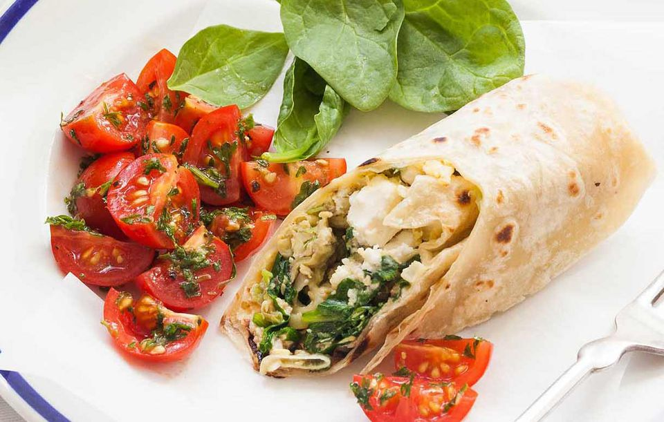 Feta Spinach Wrap