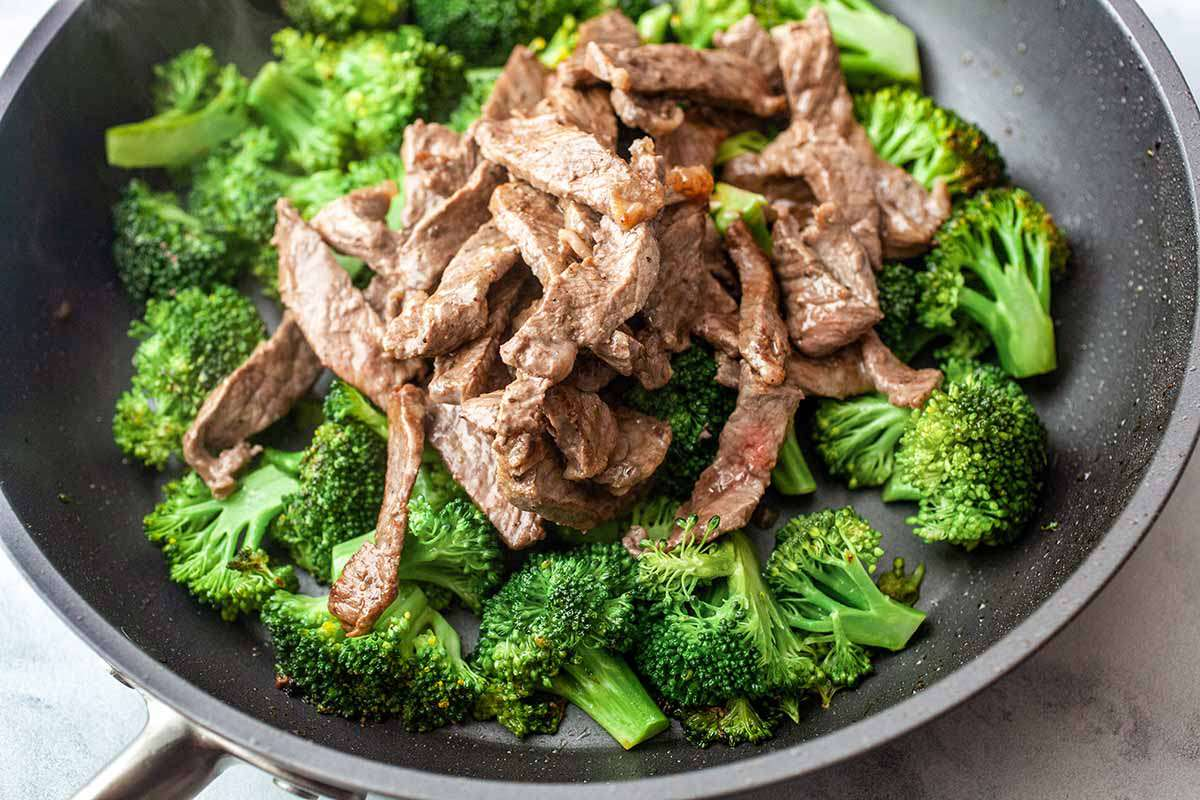 Beef and Broccoli Stir Fry cook the broccoli and add the steak back in