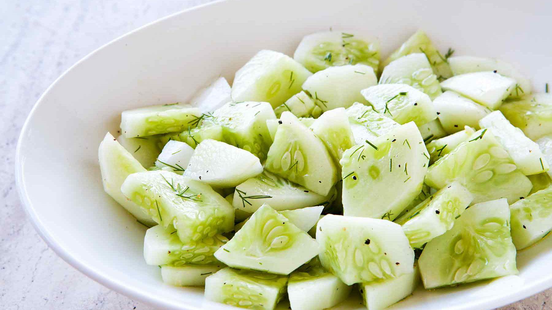 Quick Easy Cucumber Salad Recipe
