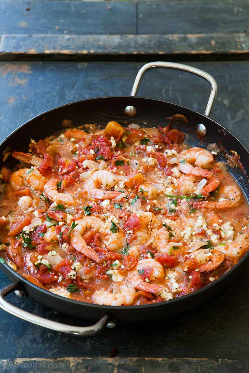 Baked Shrimp with Tomato and Feta