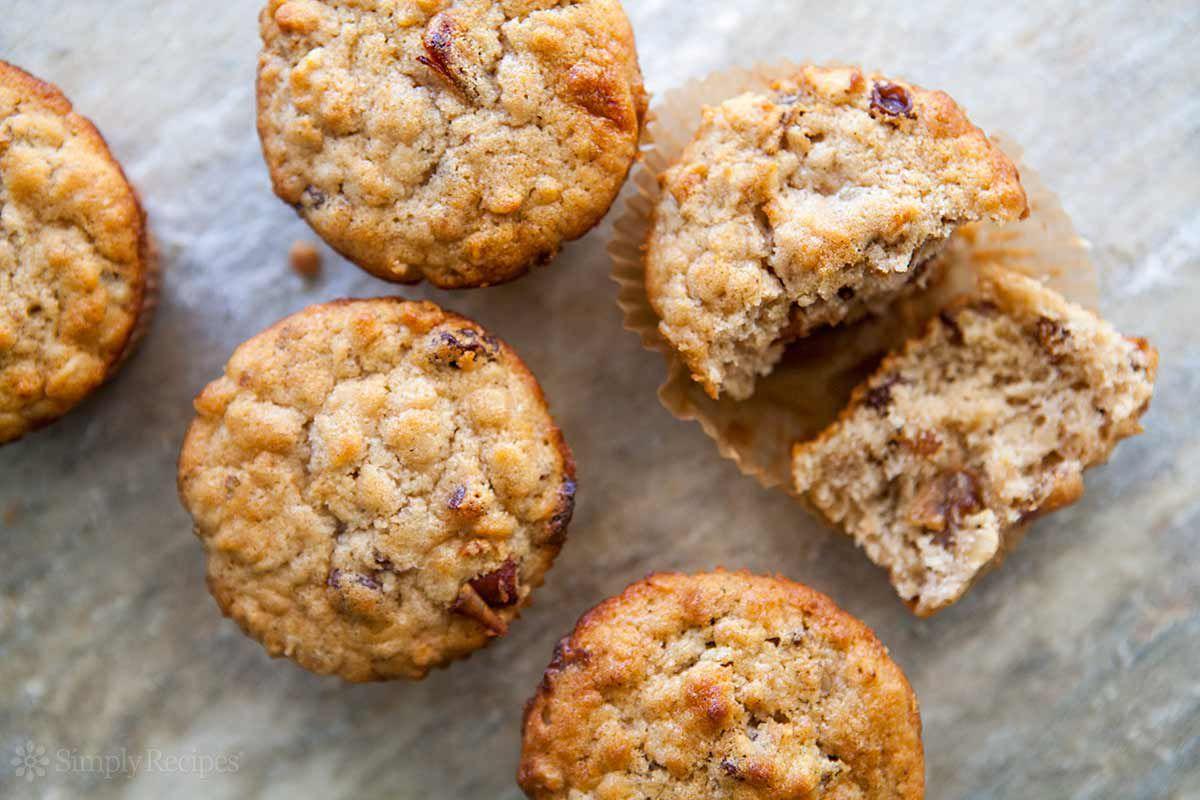 Oatmeal Muffins Raisins Dates Walnuts