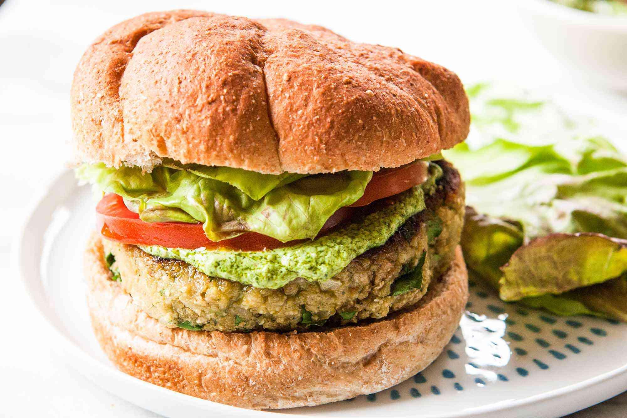White Bean Burger Recipe serve the burger