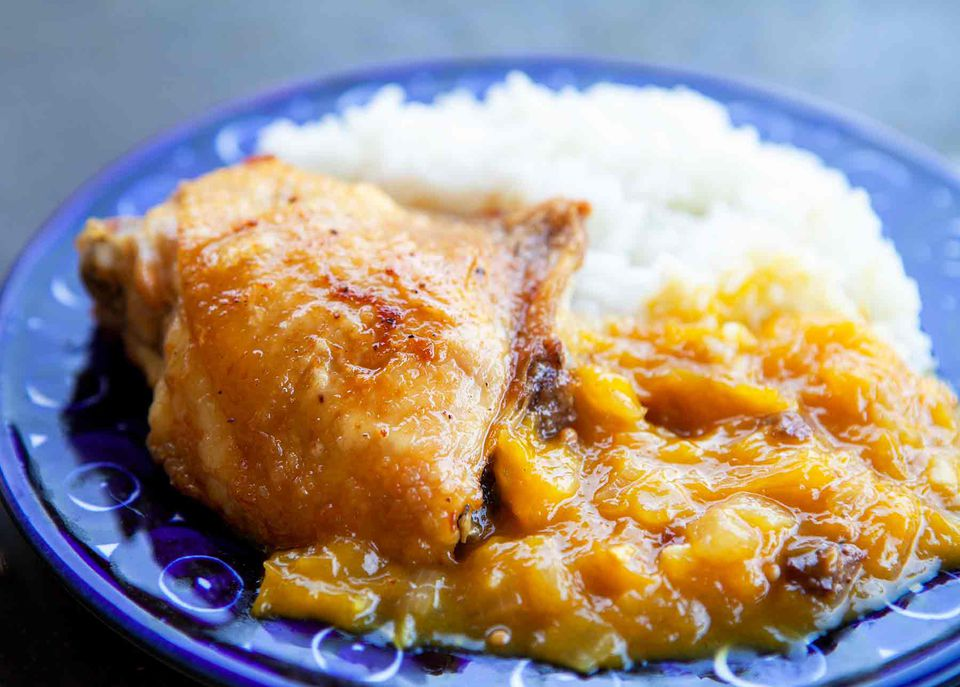 Chicken with Mango Chutney Sauce