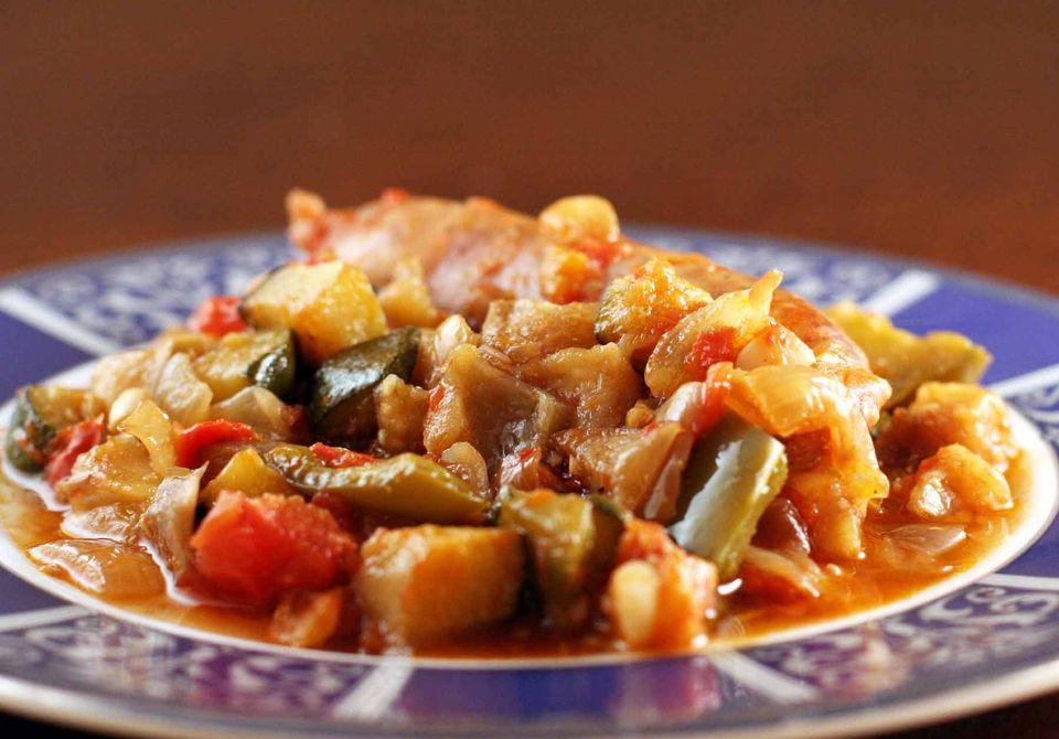 Italian Sausage with Ratatouille