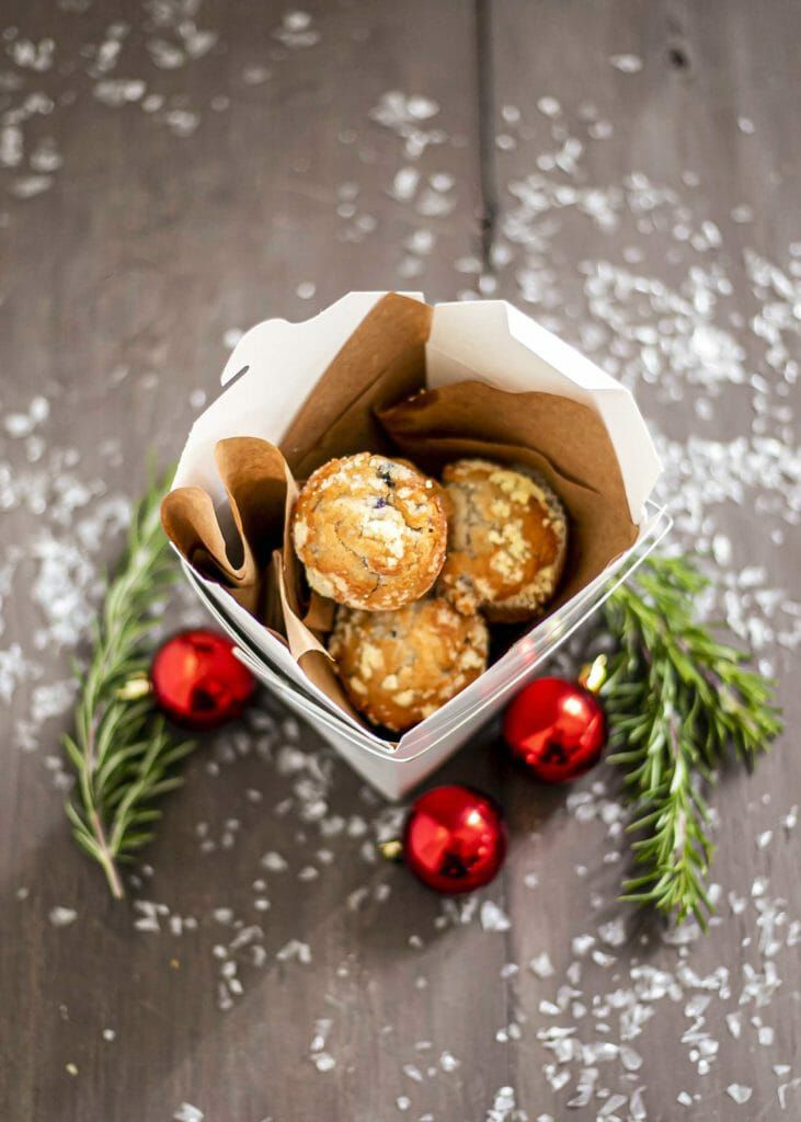 Packing muffins for holiday food gifts