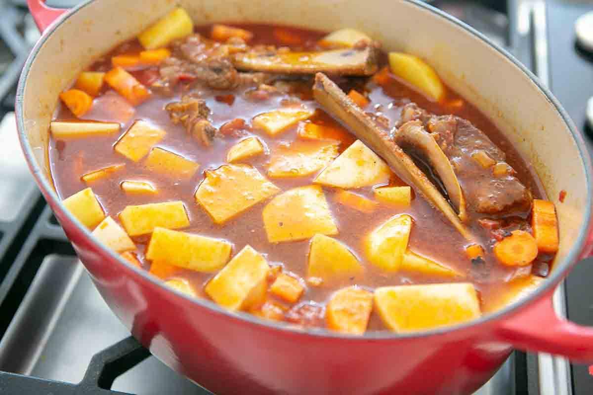 cook short rib beef stew