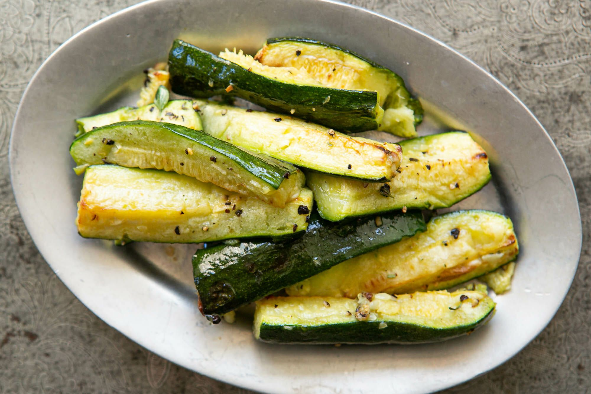 Roasted Zucchini {Oven Baked}