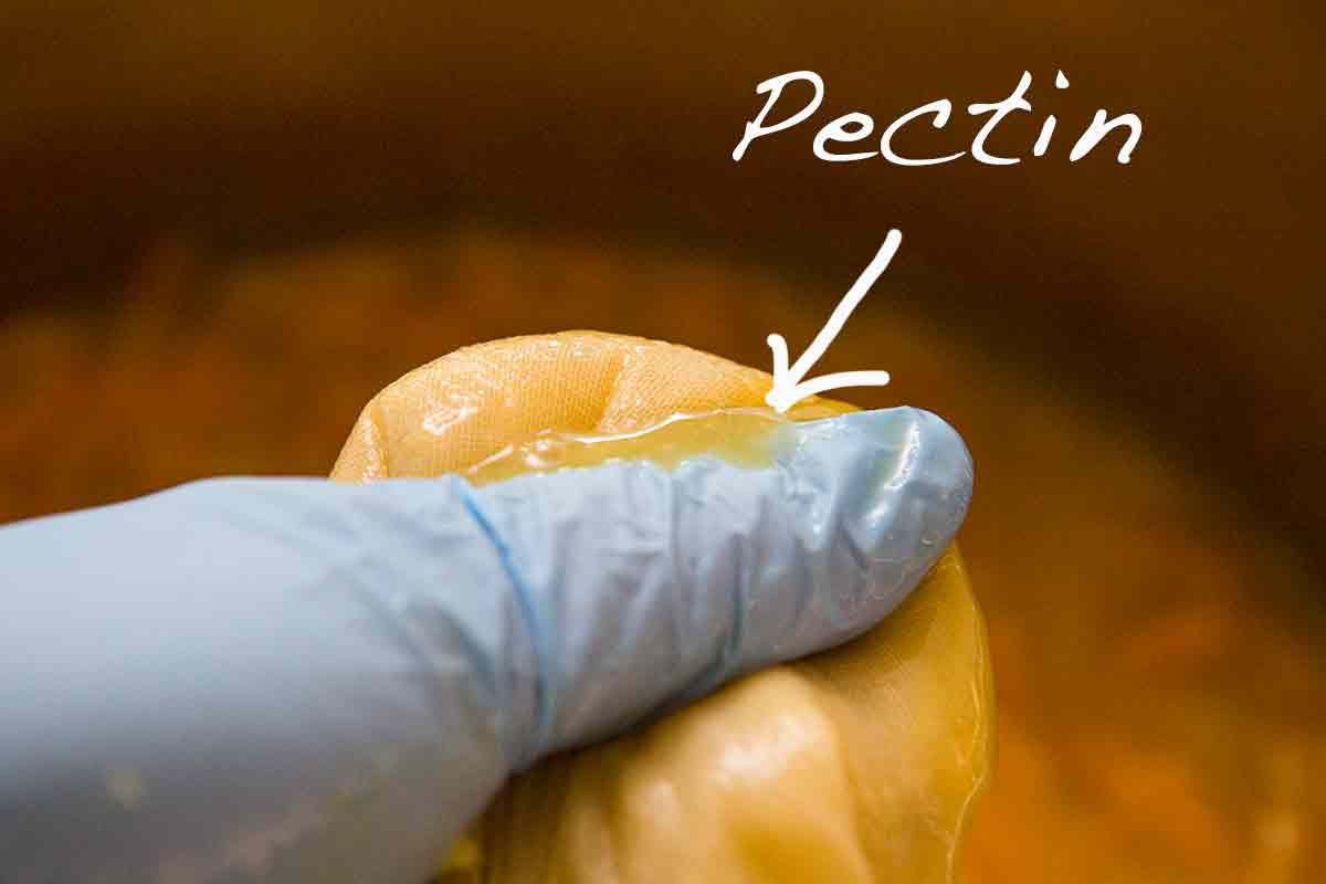 squeeze out the pectin