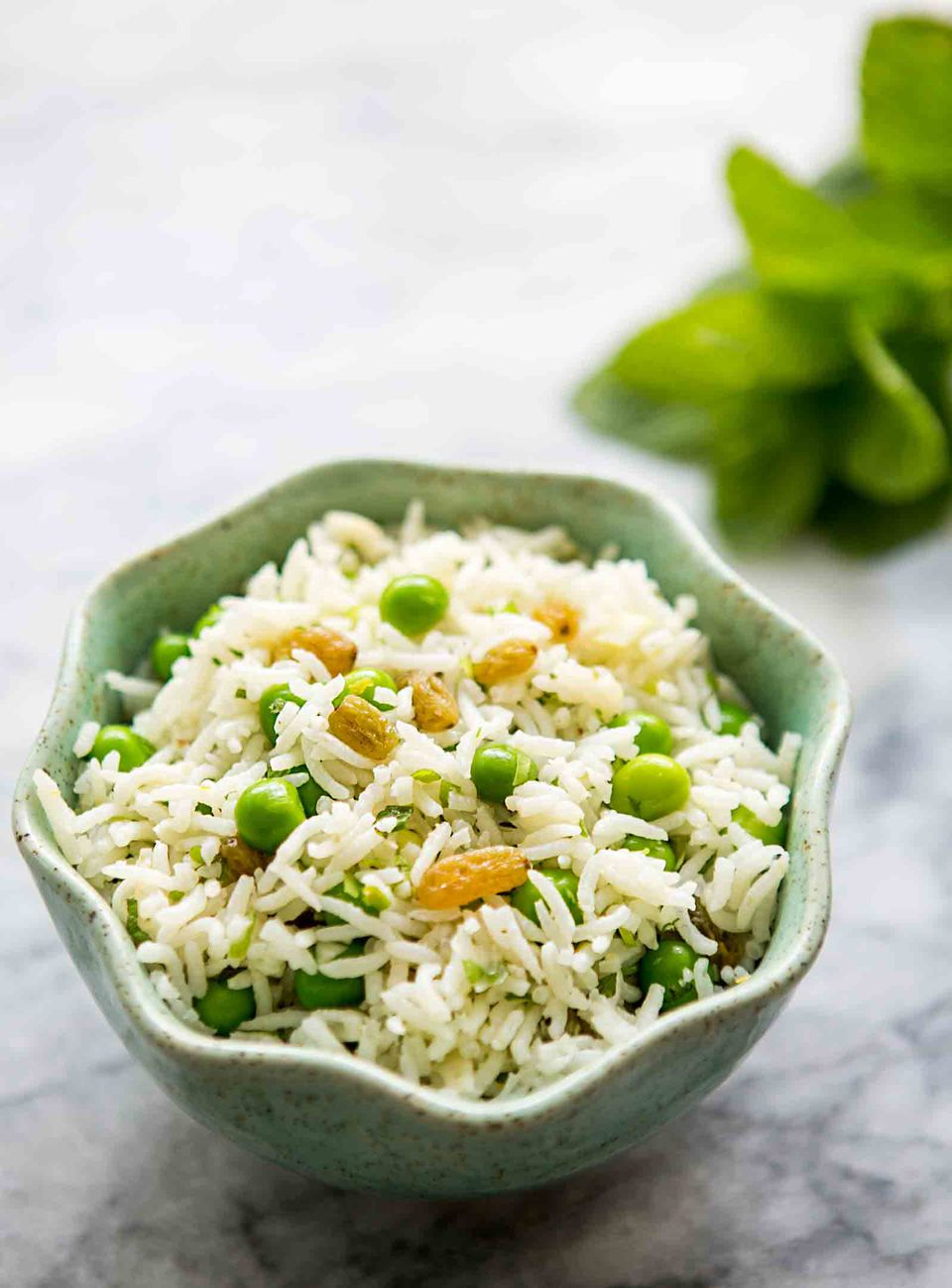 Basmati Rice Salad with Peas and Mint
