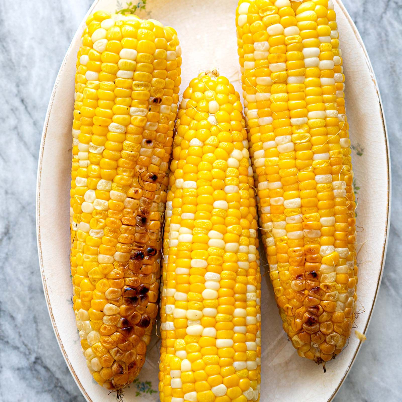 Grilled Corn On The Cob No Soaking Needed