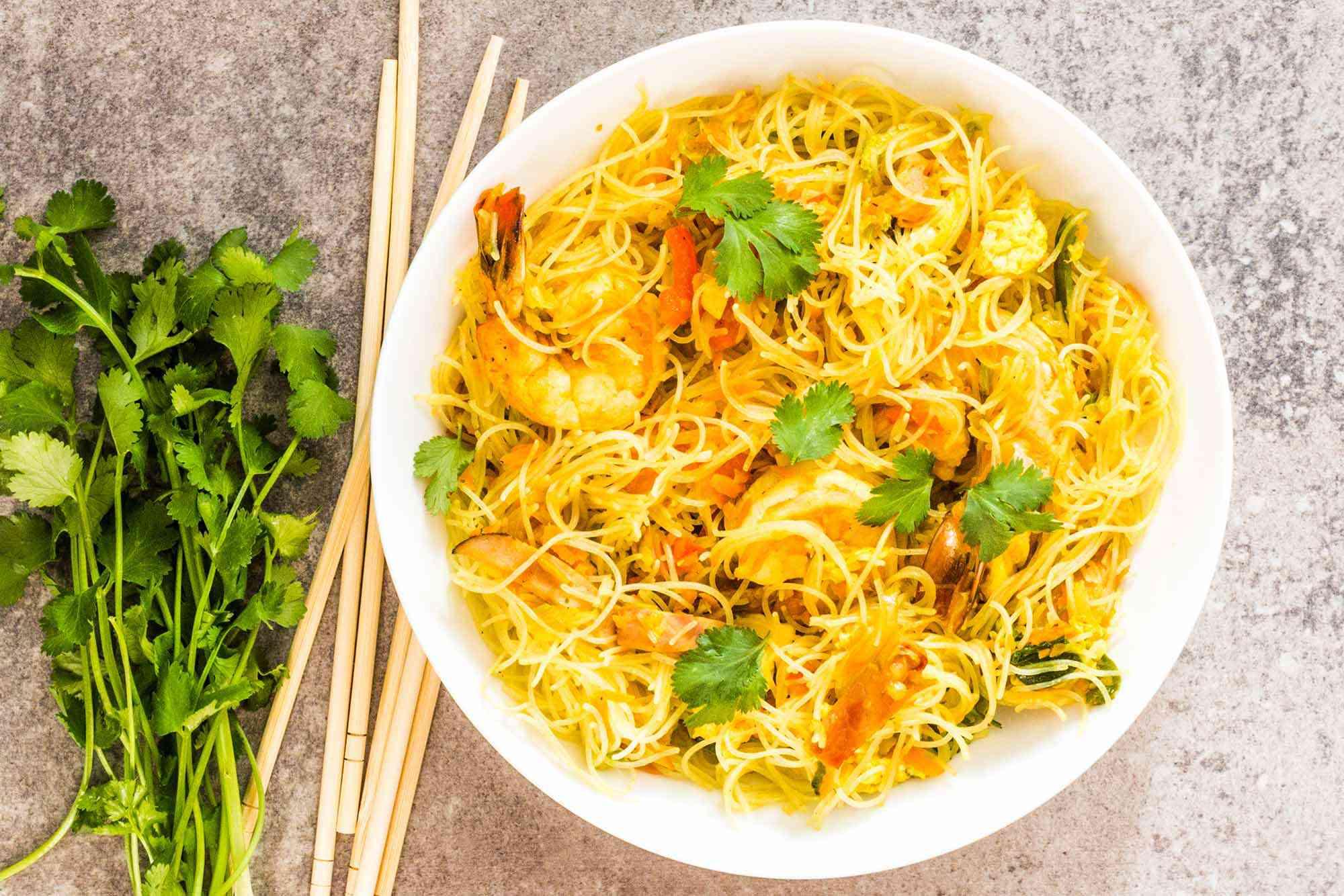 Singapore Street Noodles with Shrimp
