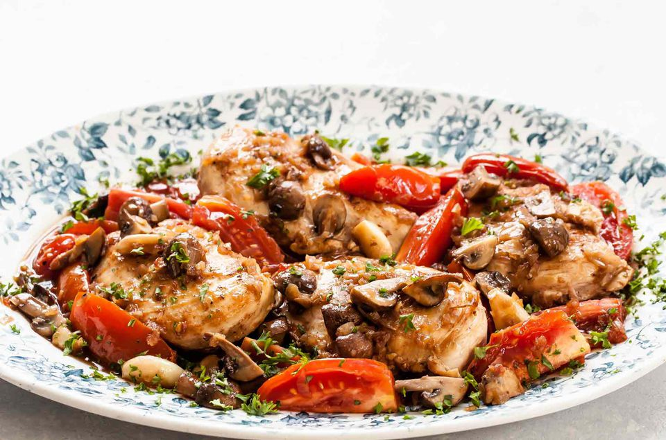 Chicken with Mushrooms and Port Wine