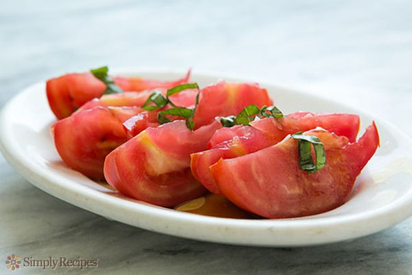 Tomato Salad with Soy Sauce on Simply Recipes