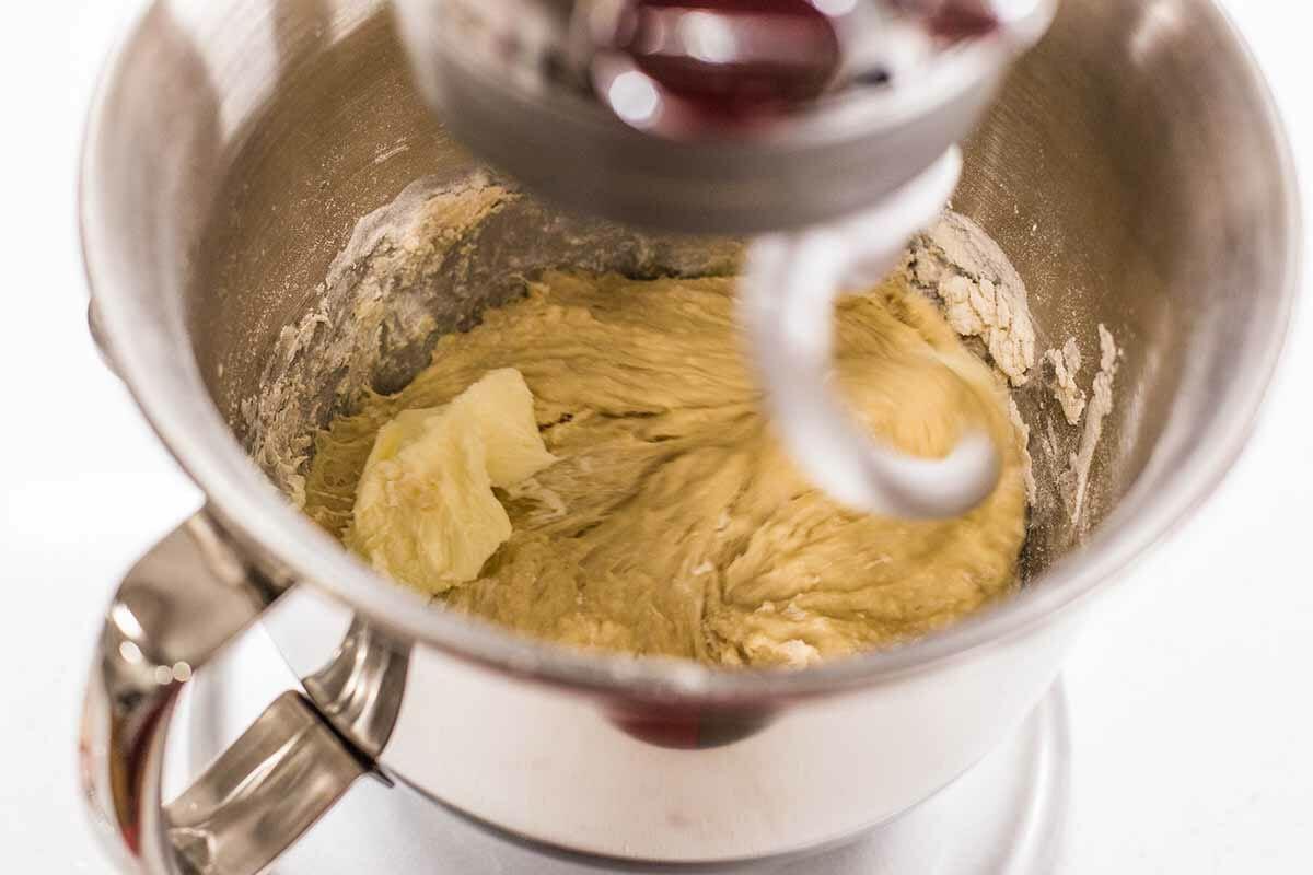 Raspberry Jam Breakfast Rolls add the butter
