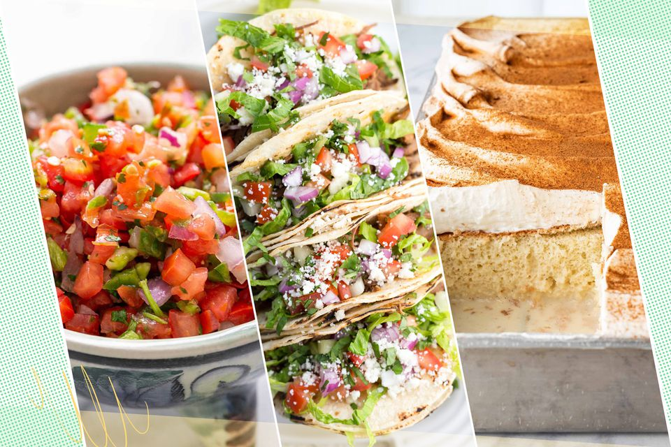 Three recipes to celebrate Cinco de Mayo set side by side.