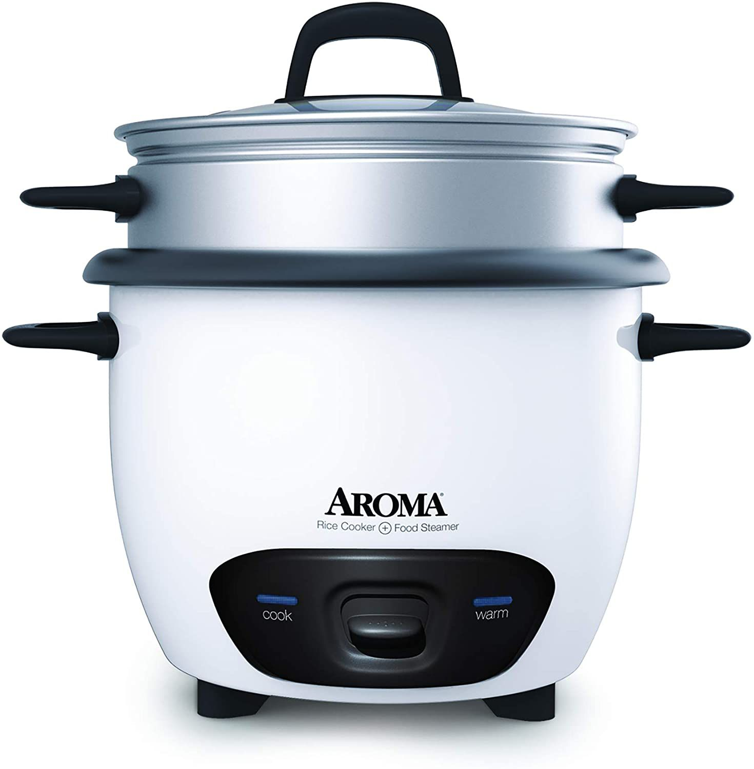Aroma Housewares 6-Cup (Cooked) Pot-Style Rice Cooker & Food Steamer (ARC-743-1NG)