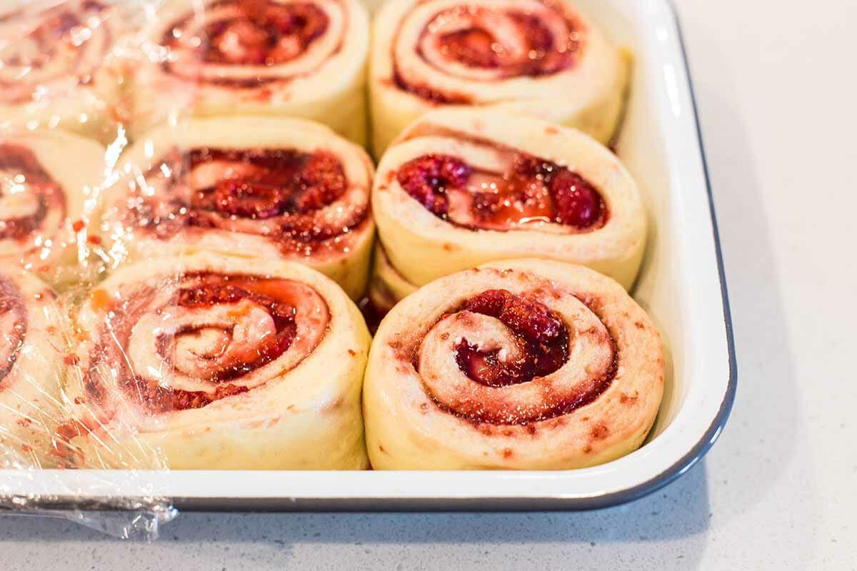 Breakfast Rolls with Jam let the rolls rise
