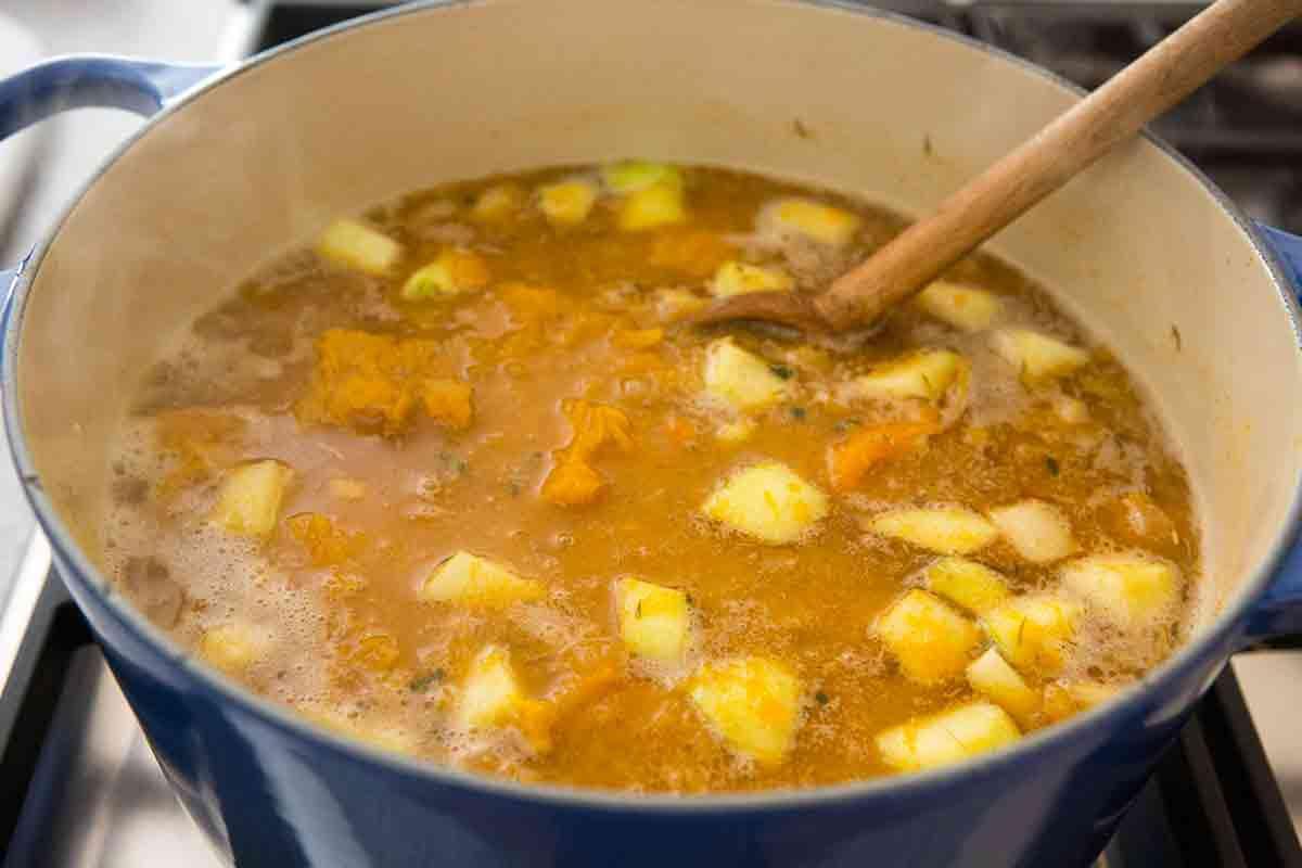 cook pumpkin soup