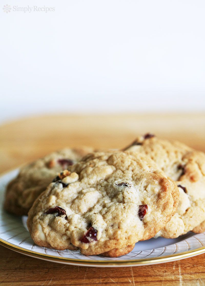 Brandied Cranberry White Chocolate Chip Cookies